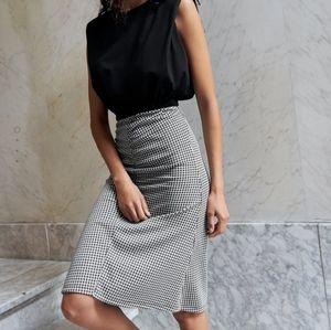 ZARA Trafaluc NWT Gingham Plaid Pencil Skirt